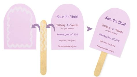 Sticks Card Template by Popsicle Shaped Save The Dates For A Summer Event