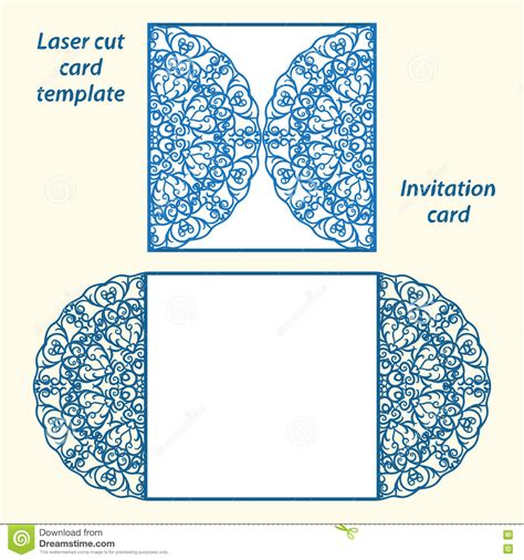 Lasercut Vector Wedding Invitation Template Stock Vector Illustration Of Mockup Gate 78672787 Laser Cut L Template