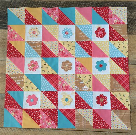 Quilts N Calicoes by Flower Patchy A Half Square Triangle Mini Quilt Pattern
