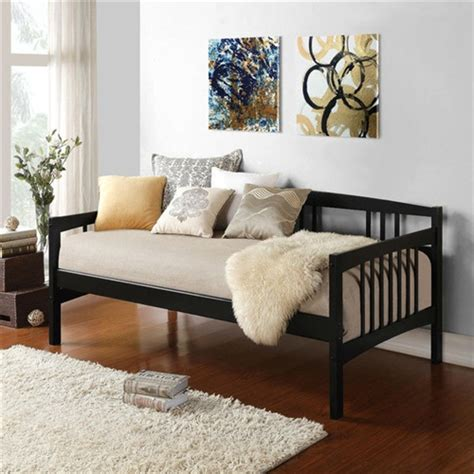 twin size day bed twin size black solid wood day bed frame with wooden slats