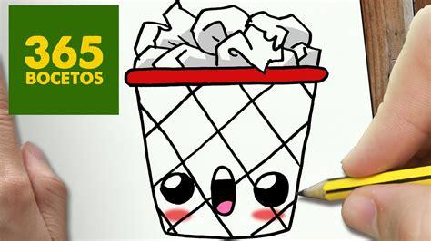 imágenes kawaii fáciles de hacer como dibujar papelera kawaii paso a paso dibujos kawaii