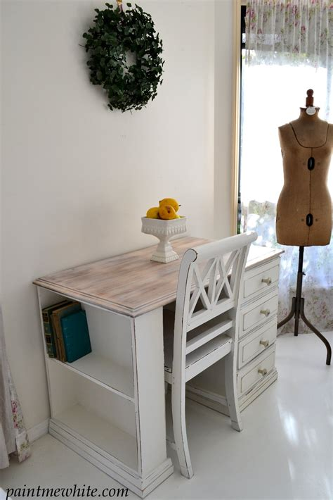 hamptons style desk paint  white