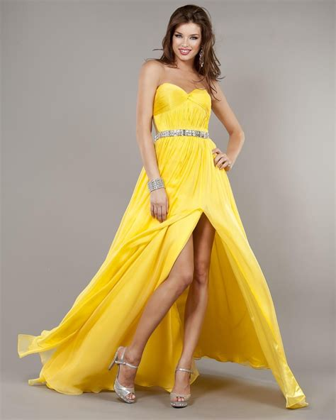 Yellow Evening Gowns Wedding by Yellow Gown Dressedupgirl