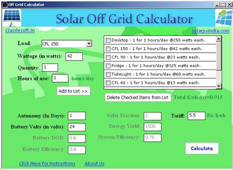home solar panel calculator solar offgrid calculator sourceforge net