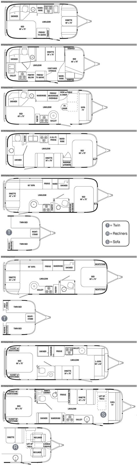 airstream travel trailers floor plans airstream flying cloud travel trailer floorplans 11