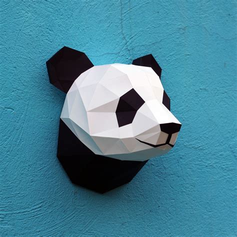 How To Make A Panda Out Of Paper - papercraft panda printable diy template by wastepaperhead