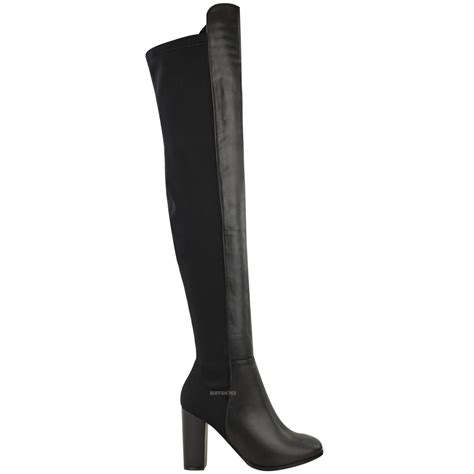 new womens the knee boots thigh high block