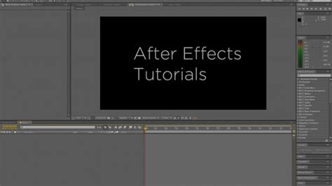 adobe after effects templates tutorials free
