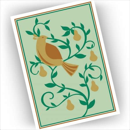 pear tree christmas cards images