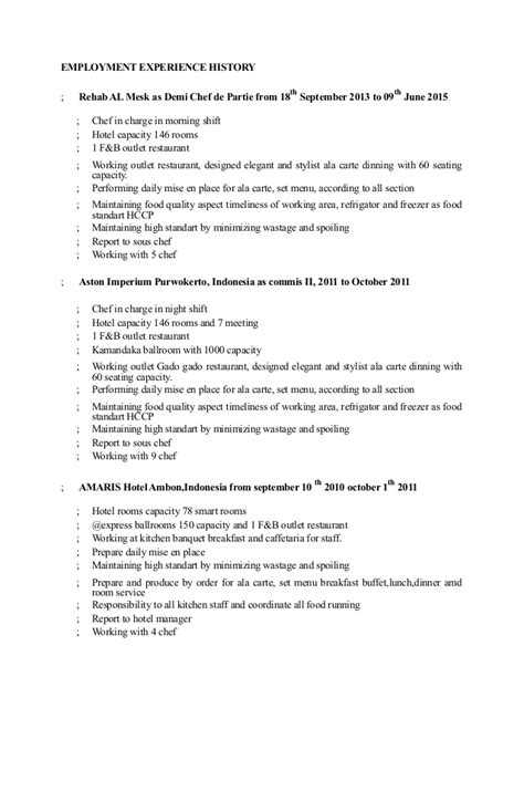 pastry chef de partie resume sle demi chef resume sanitizeuv sle resume and templates