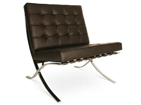 chaise barcelona chaise barcelona marron fonc 233