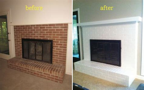painting your brick fireplace white painting a brick fireplace white that s a possibility