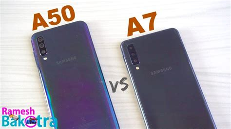 samsung galaxy a50 vs galaxy a7 2018 speedtest and comparison