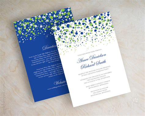 Green Theme Wedding Invitations by Lime Green And Royal Blue Wedding Invitations Lime Green And