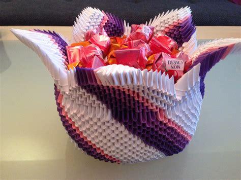 Origami Basteln Mit Papier by 3d Origami Korb Wir Basteln Aus Papier Zusammen Mit Fererro