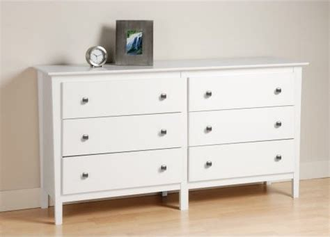 Berkshire 6 Drawer Dresser White Modern Dressers Modern Bedroom Dressers And Chests