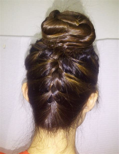 reverted braid styles inverted braid short hairstyle 2013