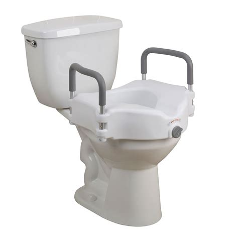 elevated toilet seat drive elevated raised toilet seat w padded arms