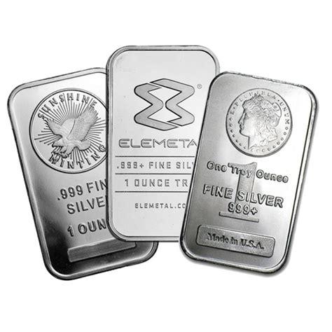 1 Ounce Silver Bar - silver bars