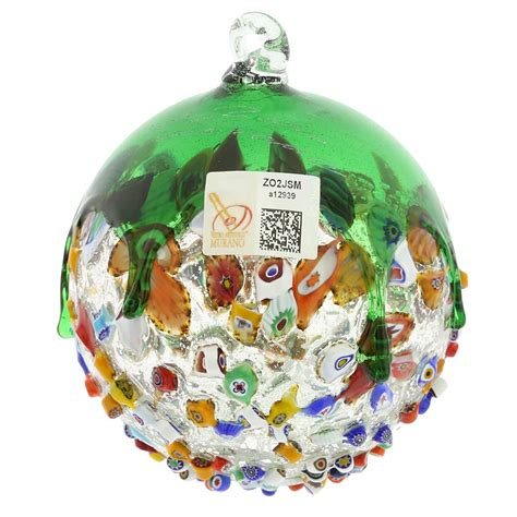 venetian glass christmas tree glassofvenice murano glass venetian mosaic ornament green 53926464081 ebay