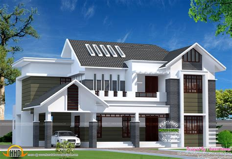 contemporary style kerala home design 2800 sq ft modern kerala home kerala home design and