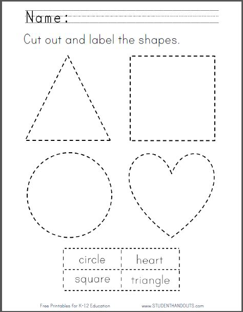 printable shapes to cut free coloring pages of practice cutting