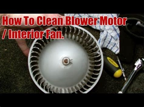 how to clean honda crv blower motor interior fan youtube