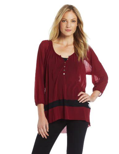 Yolanda Top Blouse aesthetic official weston wear women s yolanda top maroon x small