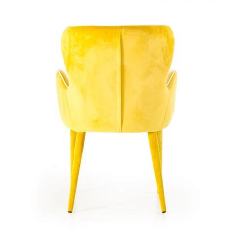 modern yellow modrest tigard modern yellow fabric dining chair