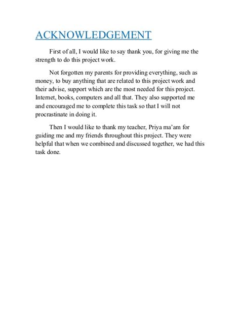 Acknowledgement Letter For Math Acknowledgement Sle For School Project In Math