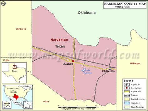 quanah texas map hardeman county map map of hardeman county texas