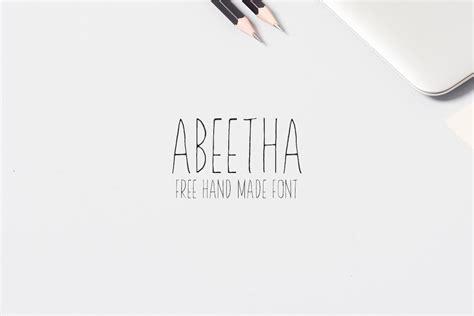Handmade Font Free - free abeetha handmade font creativetacos