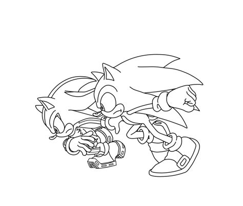 sonic and shadow coloring pages coloring home