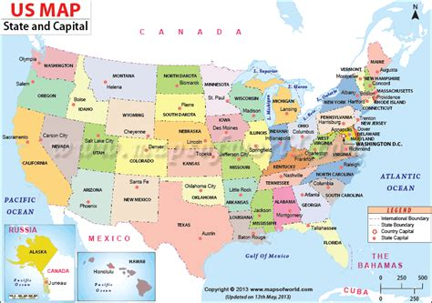 map usa showiwng states us map with states and capitals for free map