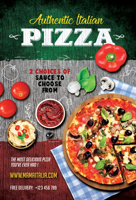 pizza flyer template free pizza restaurant flyer template for italian restaurant