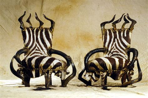 michel haillard exotic luxury furniture with tribal and gothic touches
