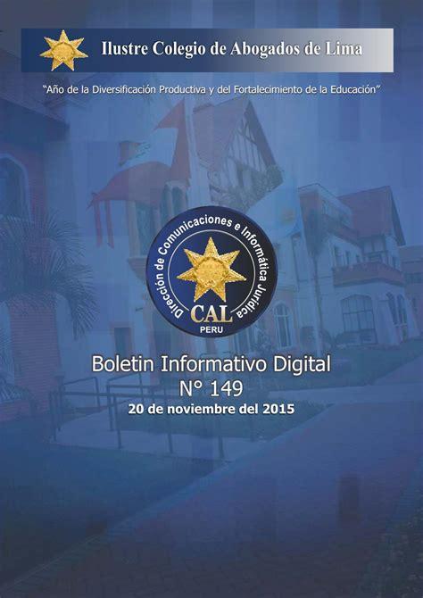 consulta de habilidad de abogados cal boletin informativo digital 149 cal by colegio de abogados
