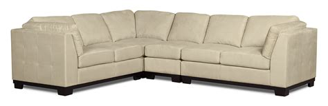 Oakdale Sofas by Oakdale 4 Microsuede Sectional The Brick