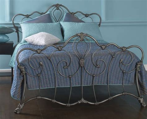 Headboard With Metal Frame by Obc Athalone 4ft 6 Silver Patina Metal Bed Frame By