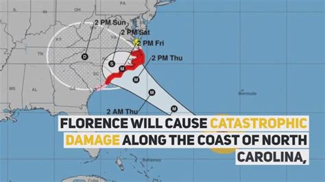 wusa map hurricane florence timeline dc could miss the worst of