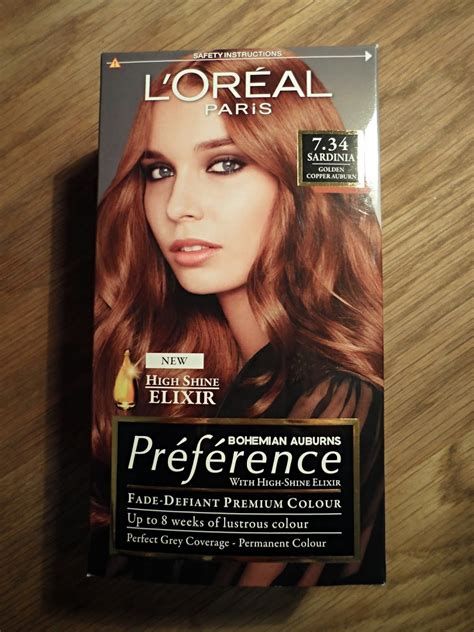 loreal preference hair color range elbel l oreal preference sardinia 7 34 golden