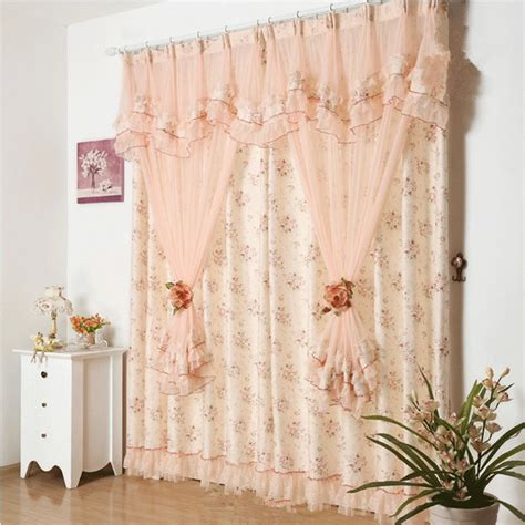 gauze fabric curtains aliexpress com buy princess lace curtains for living