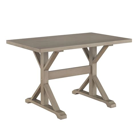 home depot trestle table carolina classics florence weathered gray trestle table