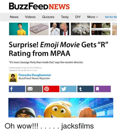 emoji movie rating buzzfeed news news videos quizzes tasty diy more v get our