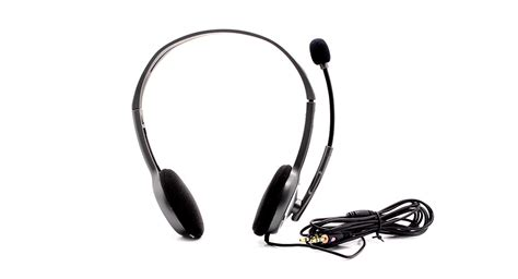 Headset Logitech H110 11 81 genuine logitech h110 stereo headset with microphone 3 5mm 240cm cable at