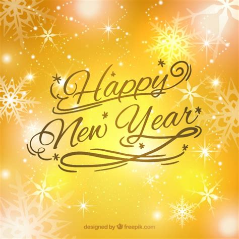 new year and yellow bright yellow new year background vector free