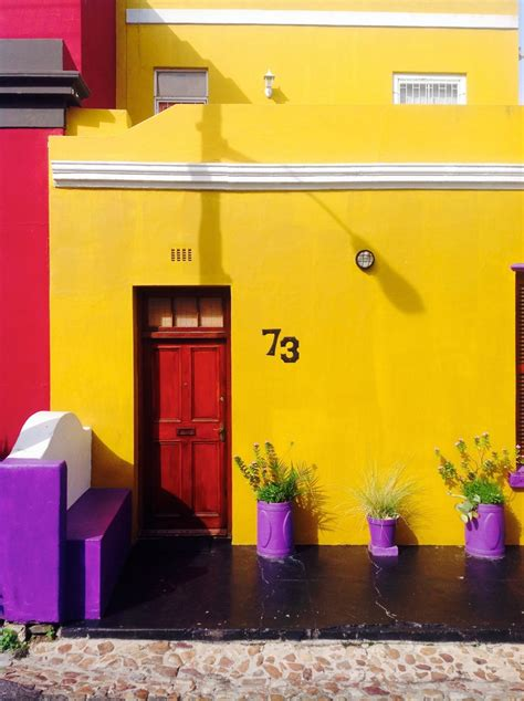 gambar rumah ungu bangunan dinding warna warni