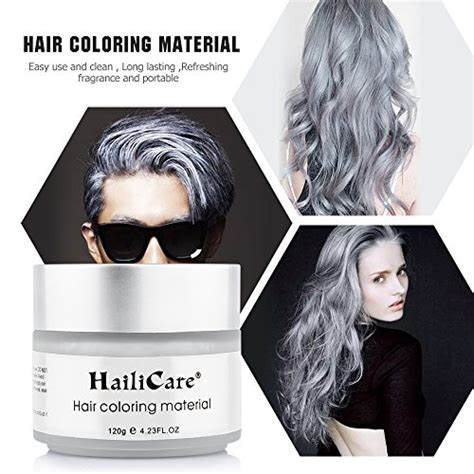 Hairstyle Wax Silver Grey Review by Hailicare Silver Grey Hair Wax 4 23 Oz Professional Hair