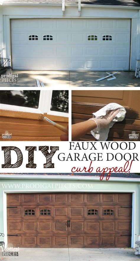 Diy Wood Garage Door by Remodelaholic Faux Wood Carriage Garage Door Tutorial