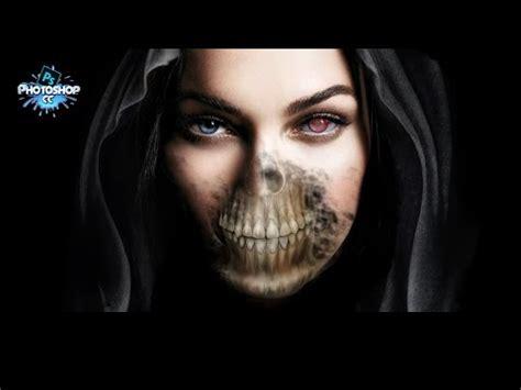 tutorial photoshop skull face photoshop cs6 tutorial half human half skull doovi